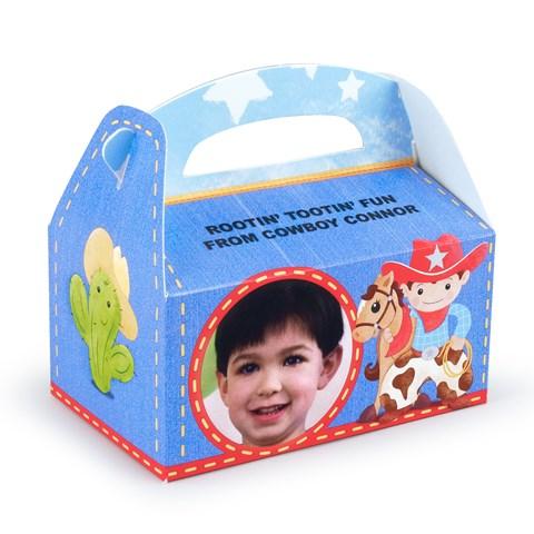 Cowboy Personalized Empty Favor Boxes