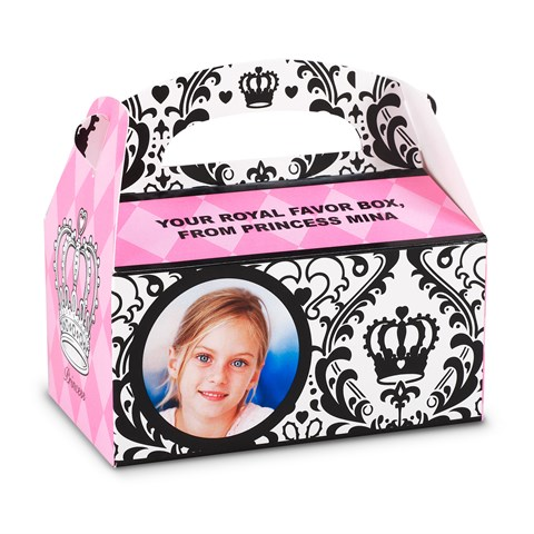 Elegant Princess Damask Personalized Empty Favor Boxes