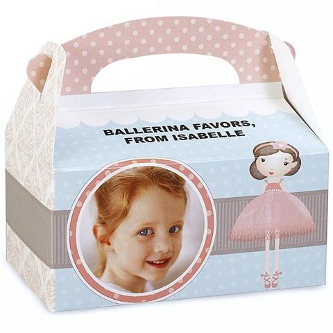 Ballerina Tutu Personalized Empty Favor Boxes