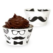Mustache Cupcake Wrappers (12)