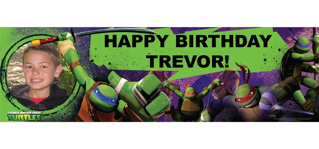 Nickelodeon Teenage Mutant Ninja Turtles - Personalized Photo Banner