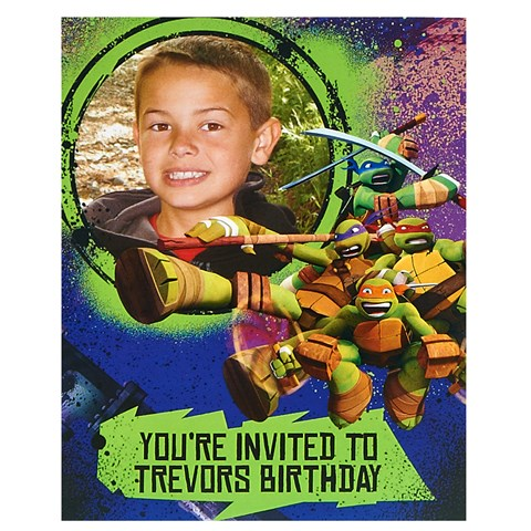 Nickelodeon Teenage Mutant Ninja Turtles - Personalized Invitations (8)