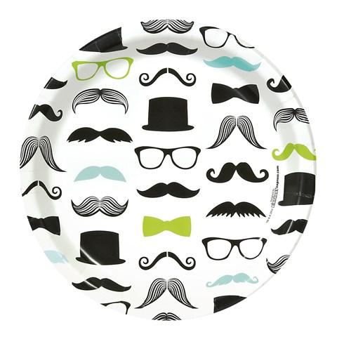 Mustache Man Dinner Plates (8)