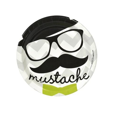 Mustache Man Dessert Plates (8)