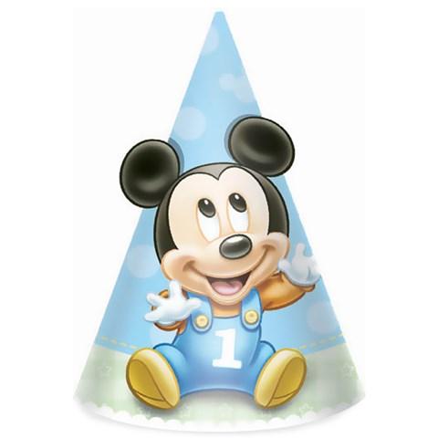 Disney Mickey's 1st Birthday Cone Hats