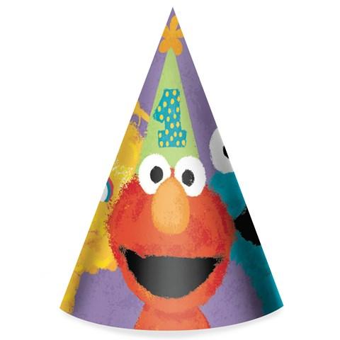 Sesame Street 1st Birthday - Cone Hats