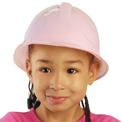 Pink Plastic Construction Hat (child sized)