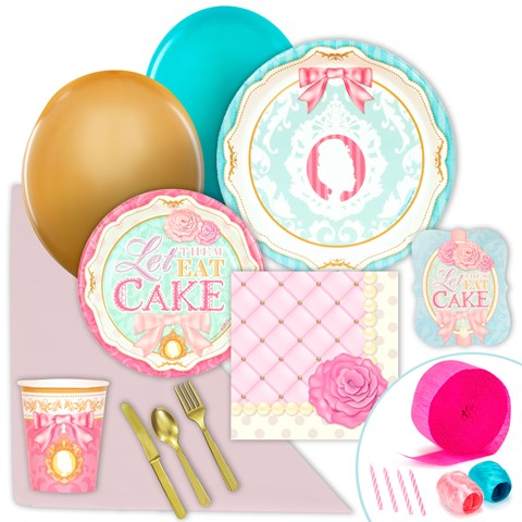 Let Them Eat Cake Just Because Party Pack for 8