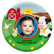 Barnyard Birthday Personalized Dinner Plates