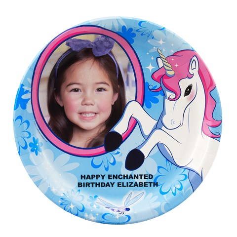 Enchanted Unicorn Personalized Dinner Plates