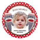 Sock Monkey Red Personalized