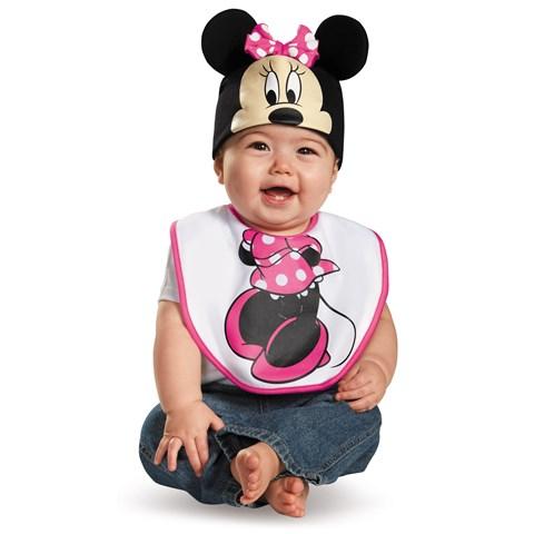 Disney Minnie Mouse Bib and Hat