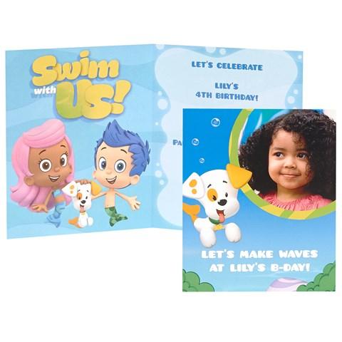 Bubble Guppies Personalized Invitations (8)