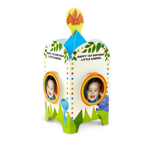 Little Dino 1st Birthday Personalized Centerpiece