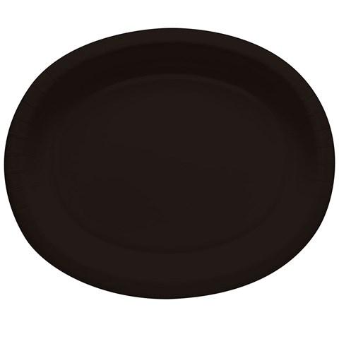 Black Velvet Oval Banquet Plates