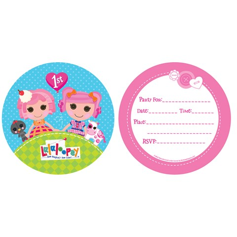 Lalaloopsy 1st Birthday Invitations