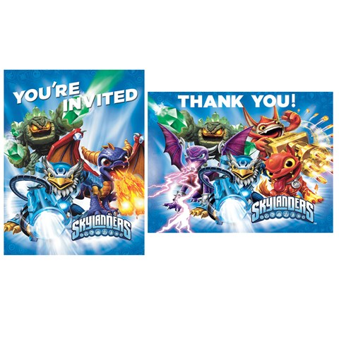 Skylanders Invitations & Thank-You Postcards
