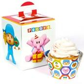 Pocoyo Cupcake Wrapper & Box Kit