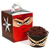 Ninja Warrior Cupcake Wrapper & Box Kit