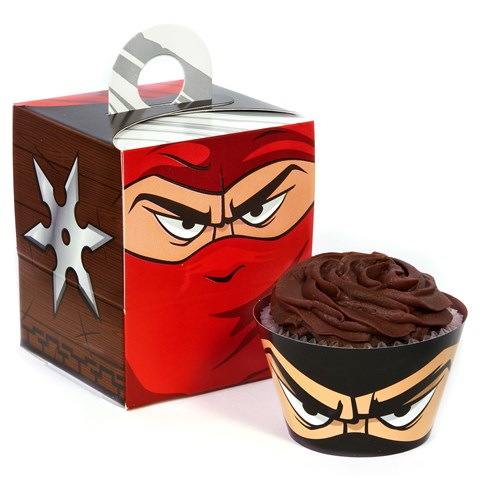 Ninja Warrior Cupcake Wrapper Combo Kit