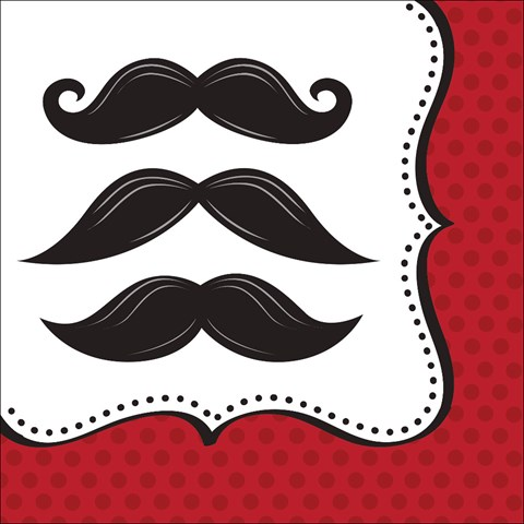 Mustache Madness Lunch Napkins (16)