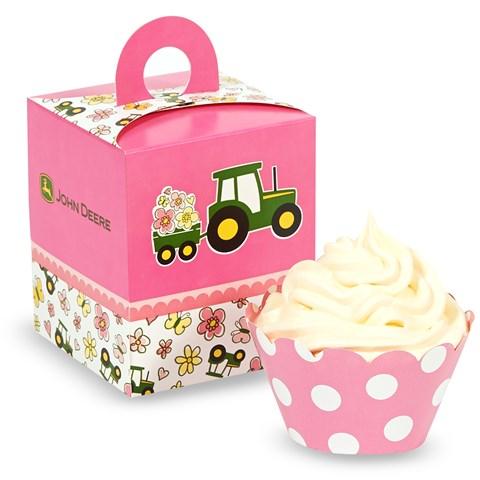 John Deere Pink Cupcake Wrapper Combo Kit