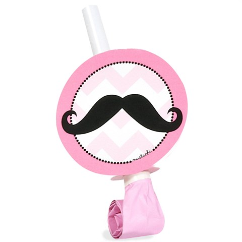Pink Mustache Blowouts