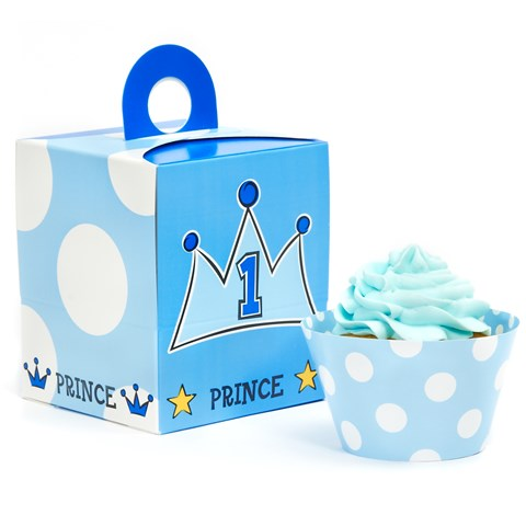 Lil Prince 1st Cupcake Wrapper Combo Kit