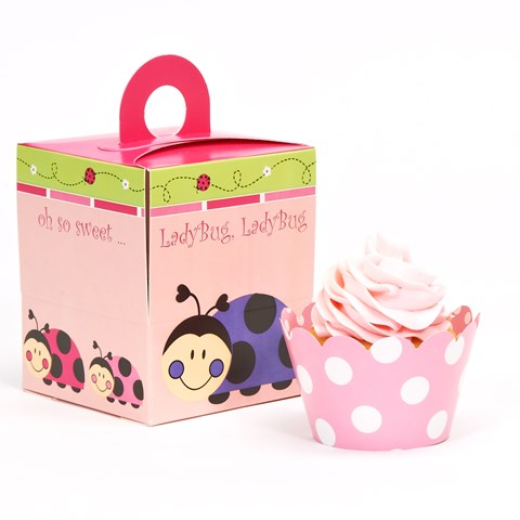 Ladybugs: Oh So Sweet Cupcake Wrapper & Box Kit