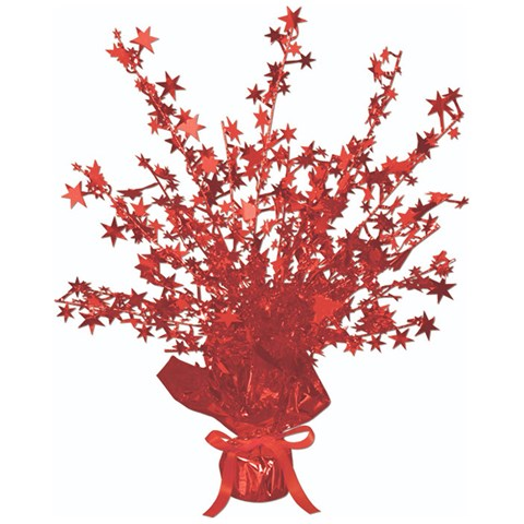 Red Foil Star Gleam 'N Burst Centerpiece