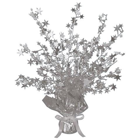 Silver Foil Star Gleam 'N Burst Centerpiece