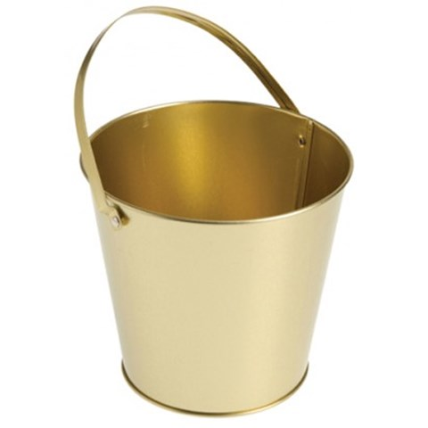 Metal Bucket - Gold