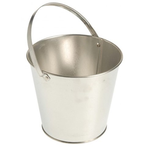 Metal Bucket - Silver