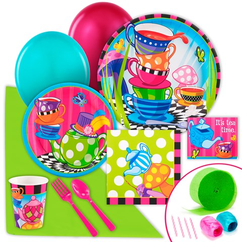 Topsy Turvy Tea Party Just Because Party Pack for 8