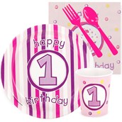 Girls Lil 'Cupcake 1st Birthday Snack Party Pack
