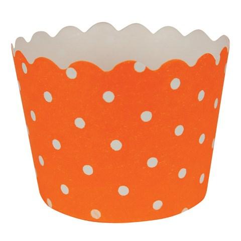 Sunkissed Orange Polka Dot Cupcake Wrappers (12)