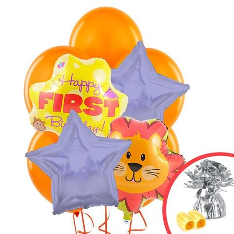 Safari Friends 1st Balloon Bouquet