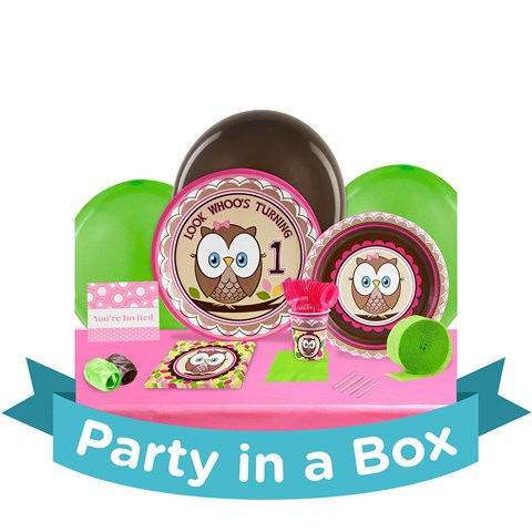 Look Whoo's 1 Pink Party in a Box