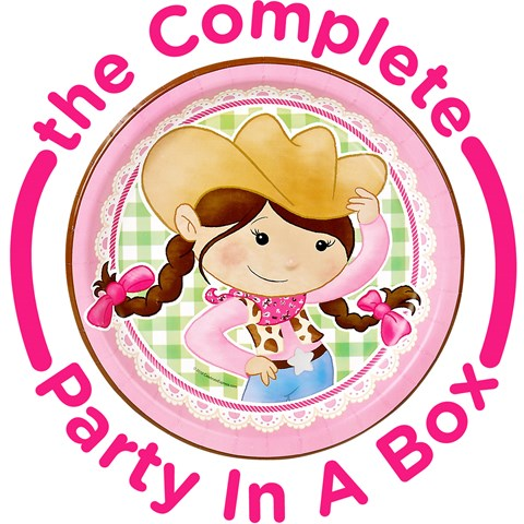 Pink Cowgirl 1st Birthday Party in a Box
