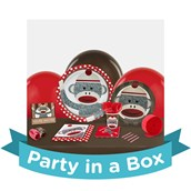 Sock Monkey Red 1st Birthday Party in a Box