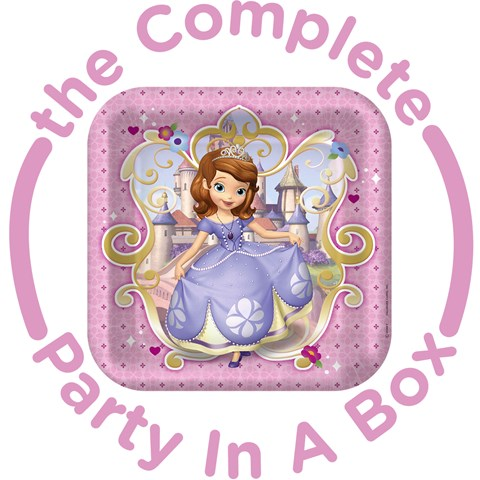Sofia the First 1st Birthday Party in a Box