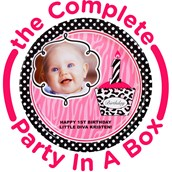 Diva Zebra Print 1st Birthday Personalized Party in a Box
