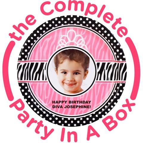 Diva Zebra Print Personalized Party in a Box