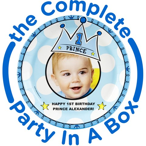 Lil Prince 1st Personalized Party in a Box