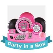 Elegant Princess Damask 1st Birthday Party in a Box