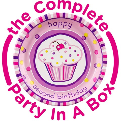 Girls Lil Cupcake 2nd Birthday Party in a Box