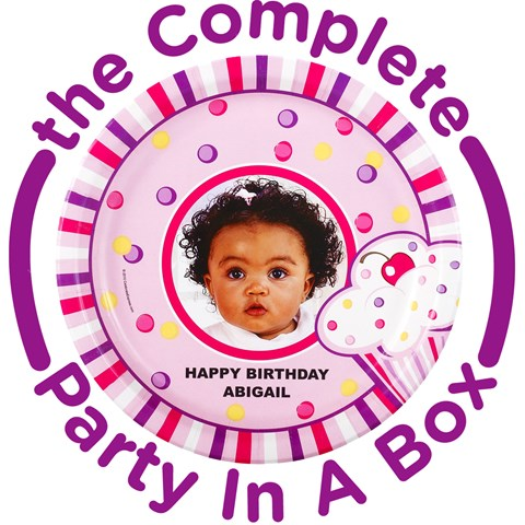 Girls Lil Cupcake Personalized Party in a Box