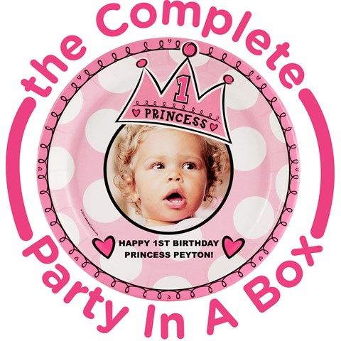 Birthday Princess 1st Birthday Personalized Party in a Box