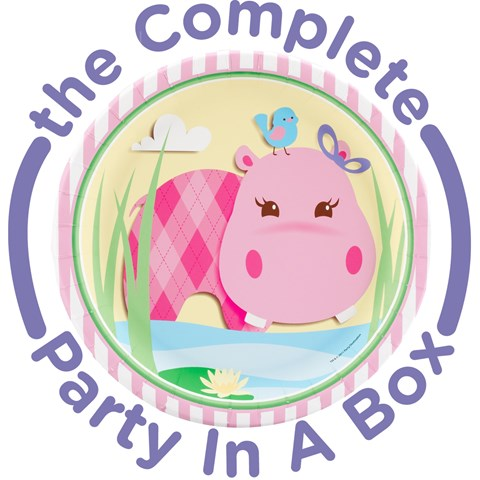 Hippo Pink 1st Birthday Party in a Box