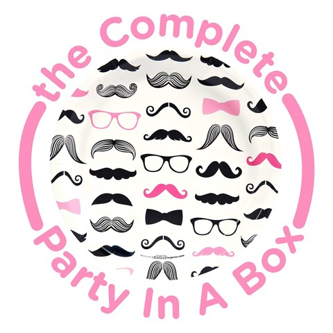 Pink Mustache Party in a Box